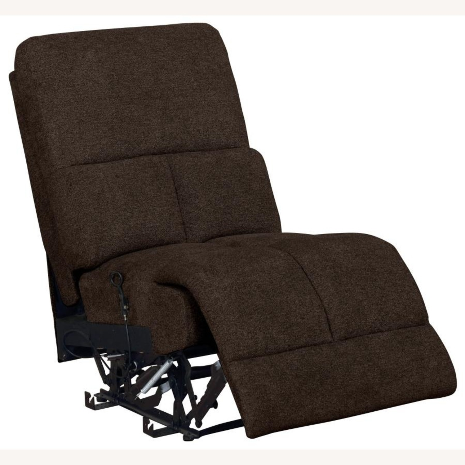 Motion Sectional In Brown Performance Fabric - image-3