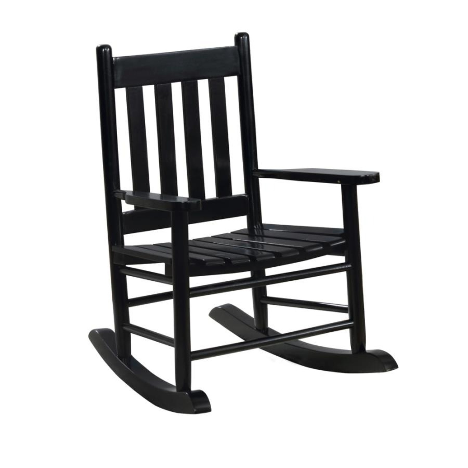 Youth Rocking Chair In Black Solid Acacia Wood - image-0