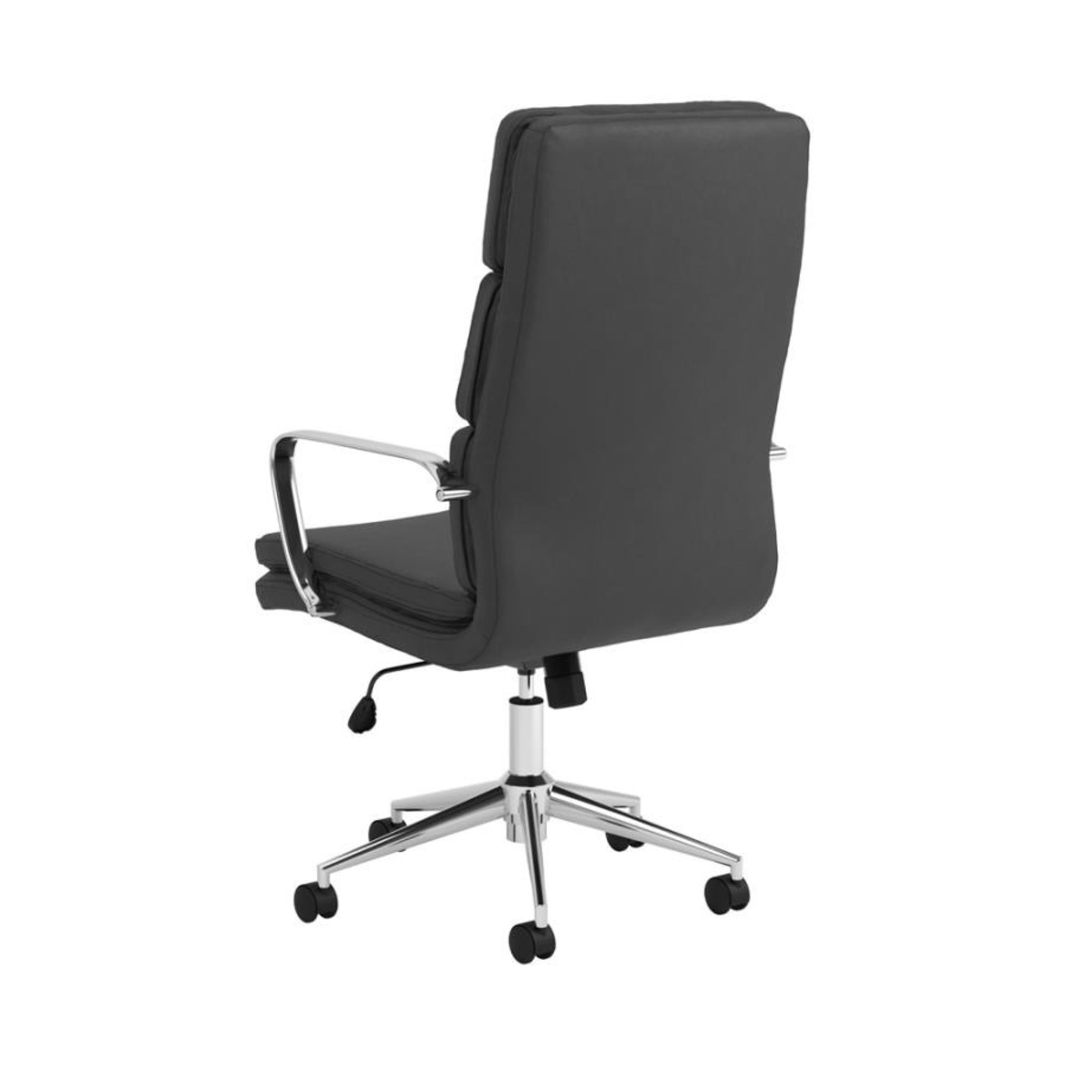 Office Chair In Black Cushion Leatherette Finish - image-3