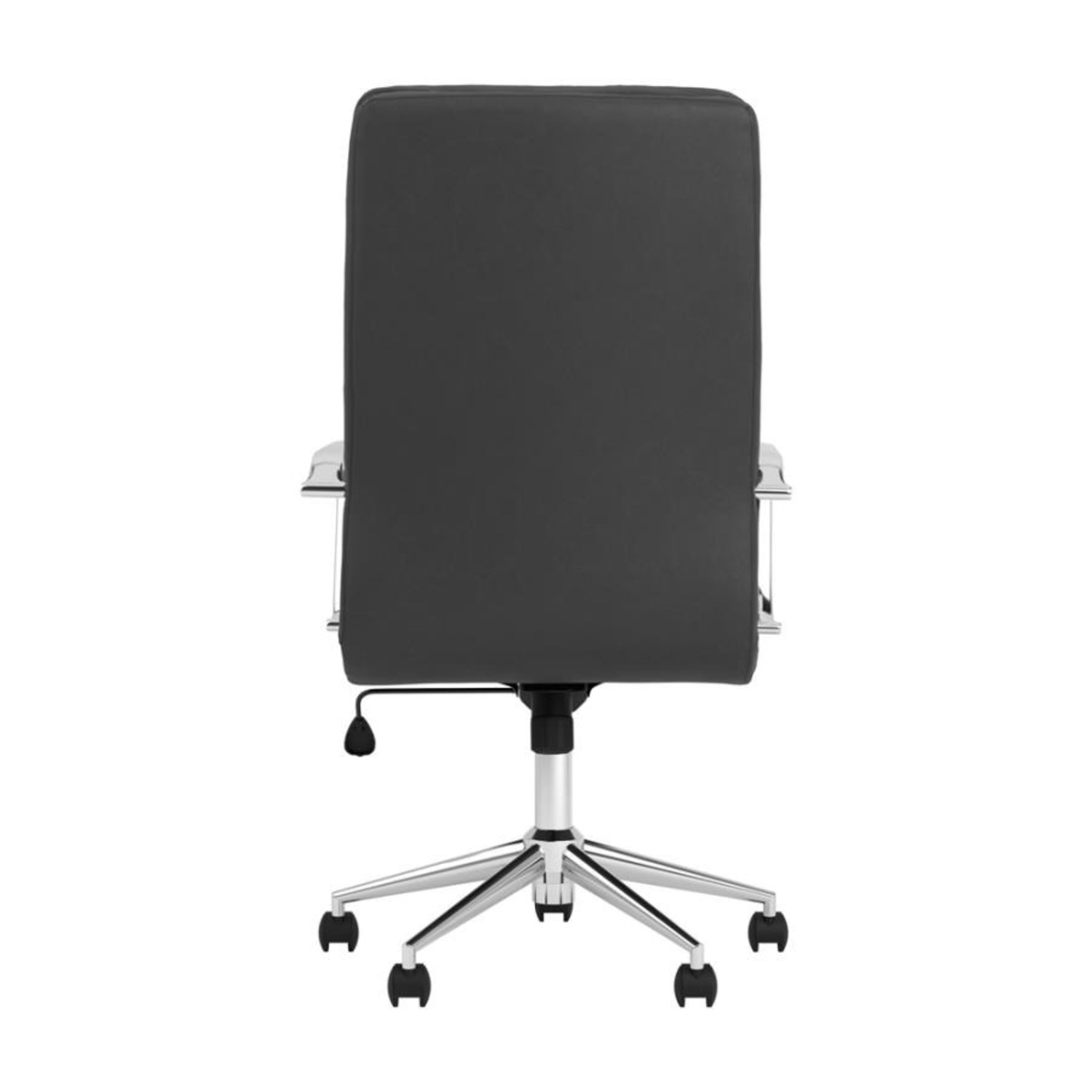 Office Chair In Black Cushion Leatherette Finish - image-4