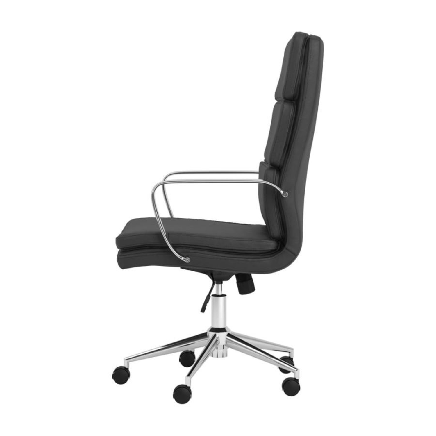 Office Chair In Black Cushion Leatherette Finish - image-2
