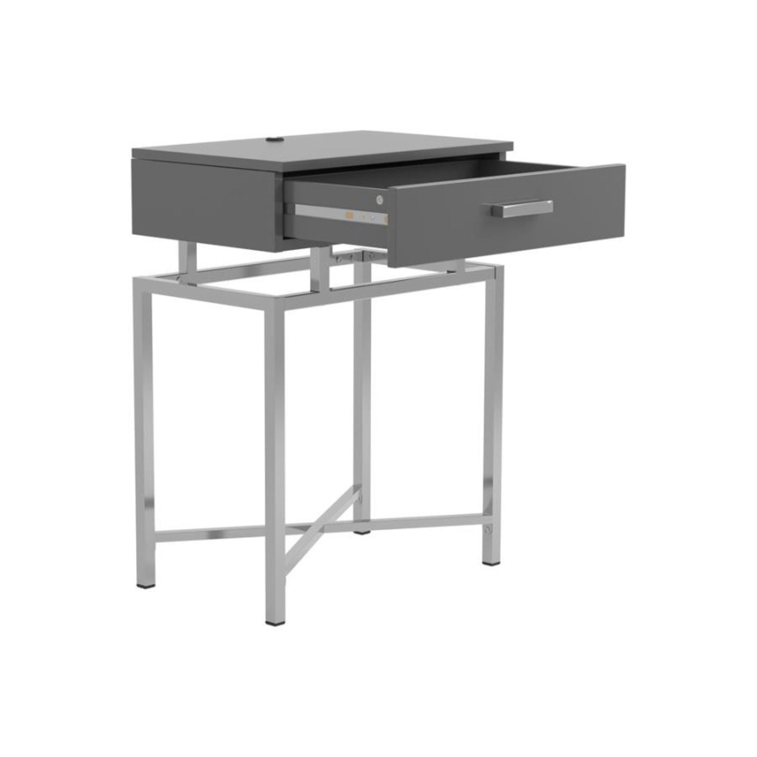 Accent Table In Grey High Gloss Finish - image-1