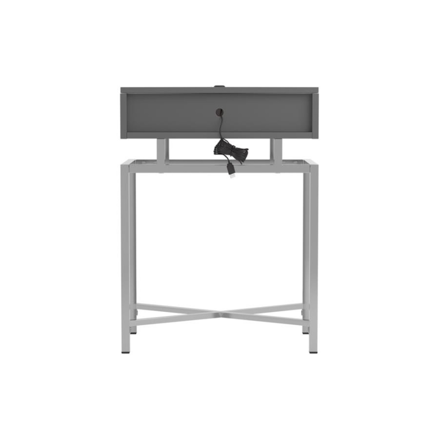 Accent Table In Grey High Gloss Finish - image-3