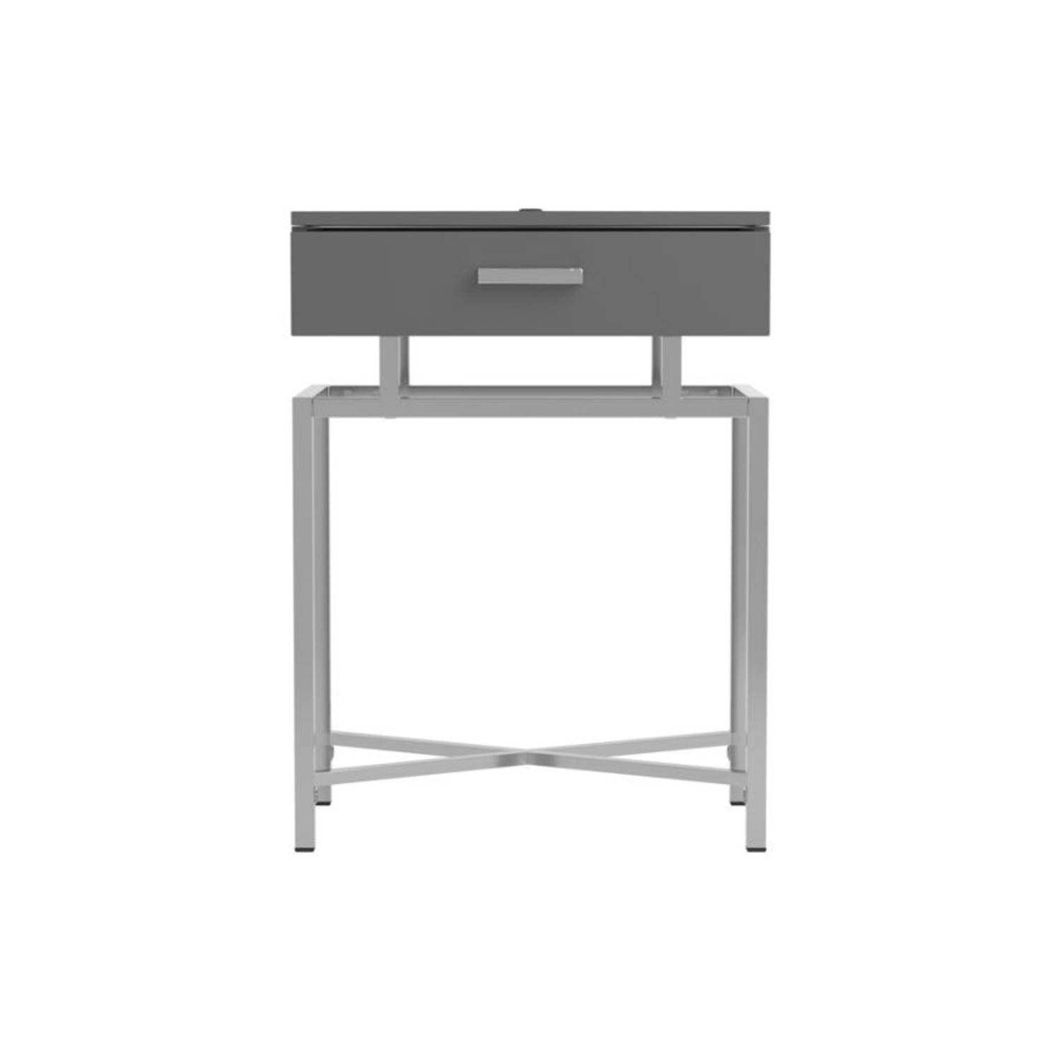 Accent Table In Grey High Gloss Finish - image-2