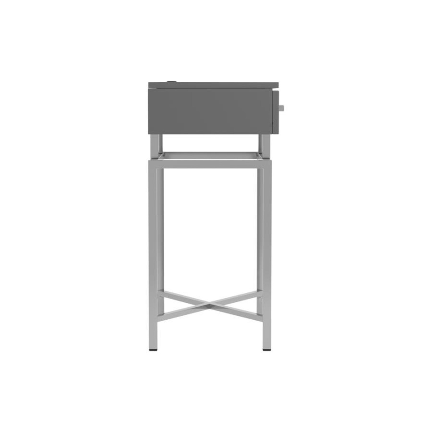 Accent Table In Grey High Gloss Finish - image-4