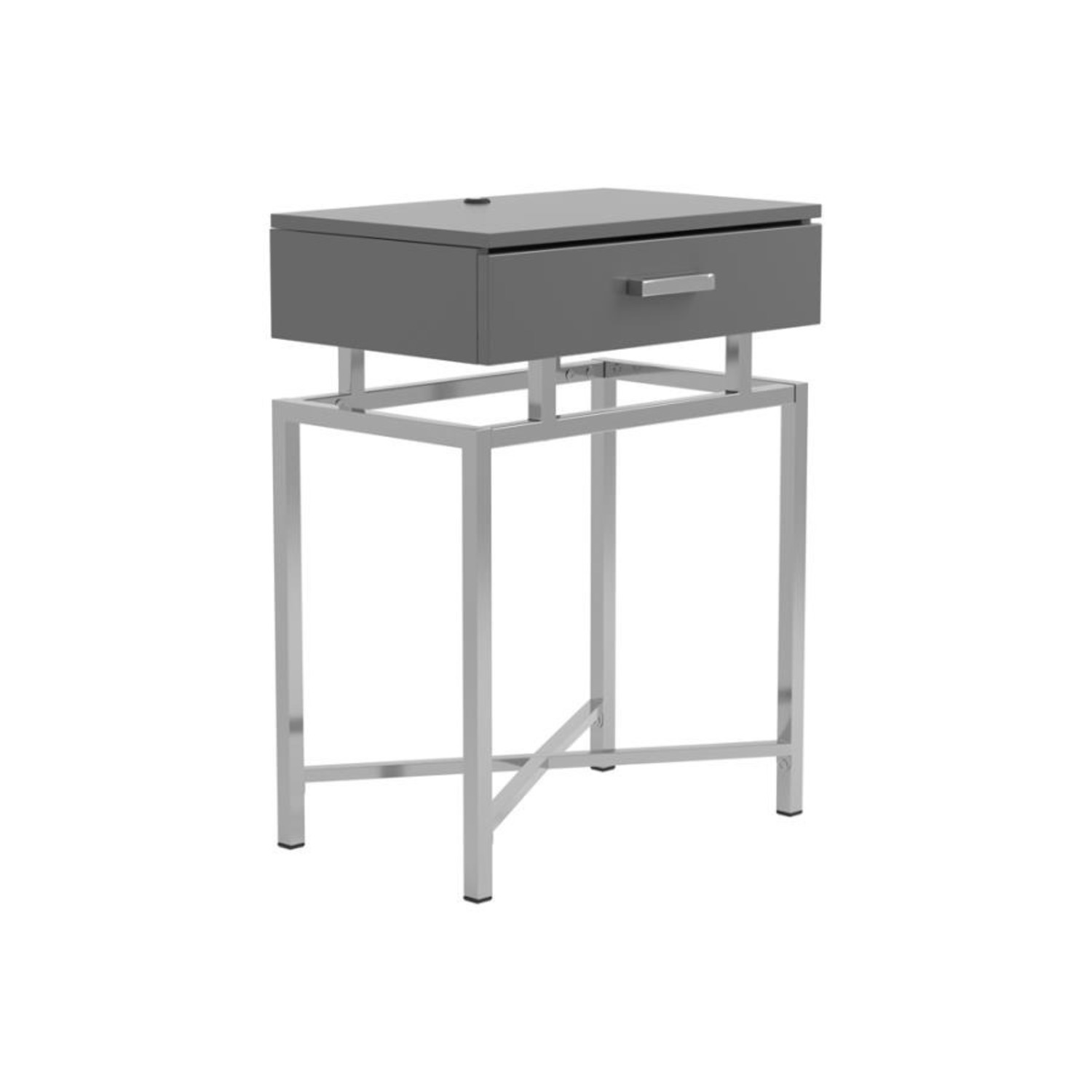 Accent Table In Grey High Gloss Finish - image-0