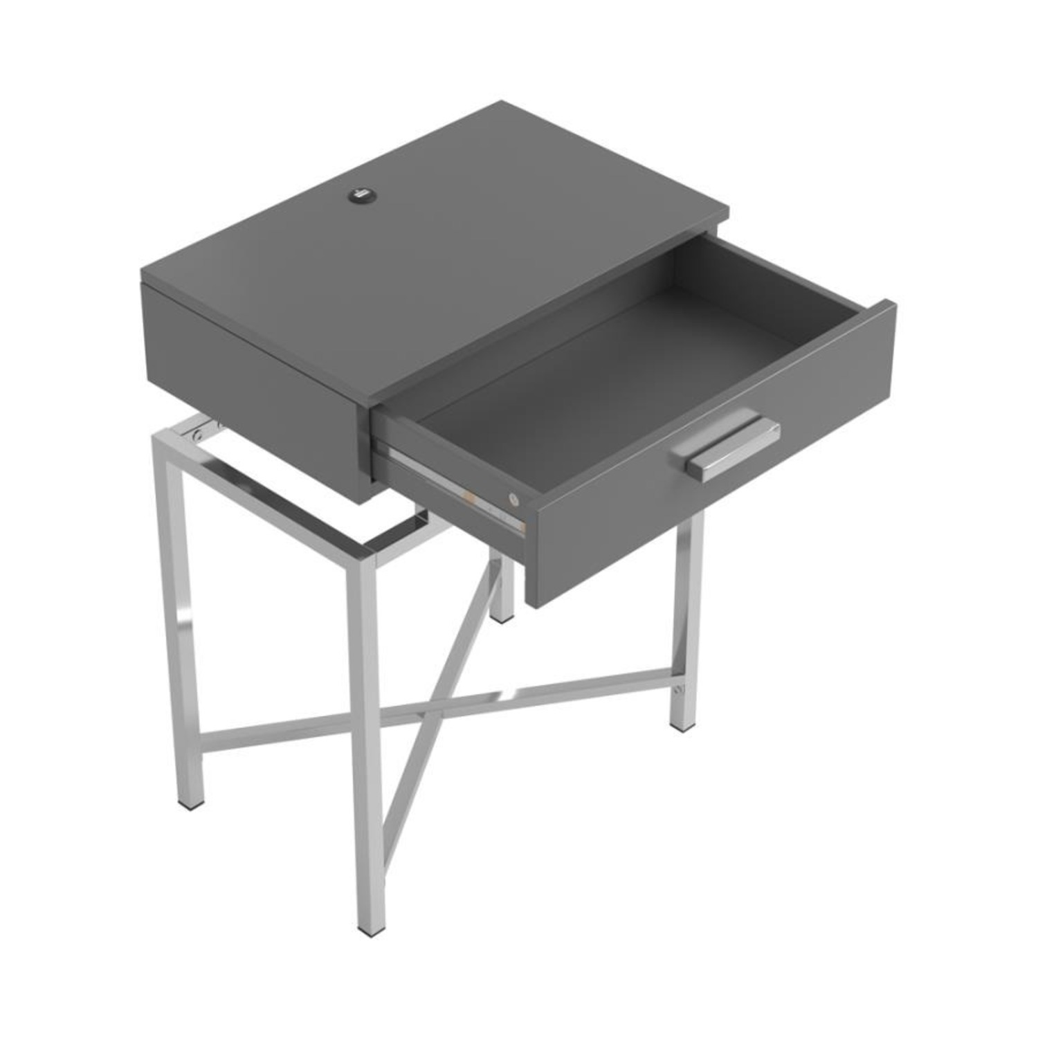 Accent Table In Grey High Gloss Finish - image-6