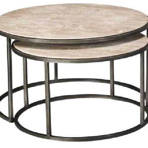 Used Travertine Marble Nesting Coffee Tables for sale on AptDeco