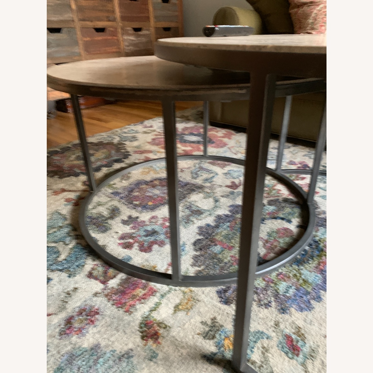 Travertine Marble Nesting Coffee Tables - image-1