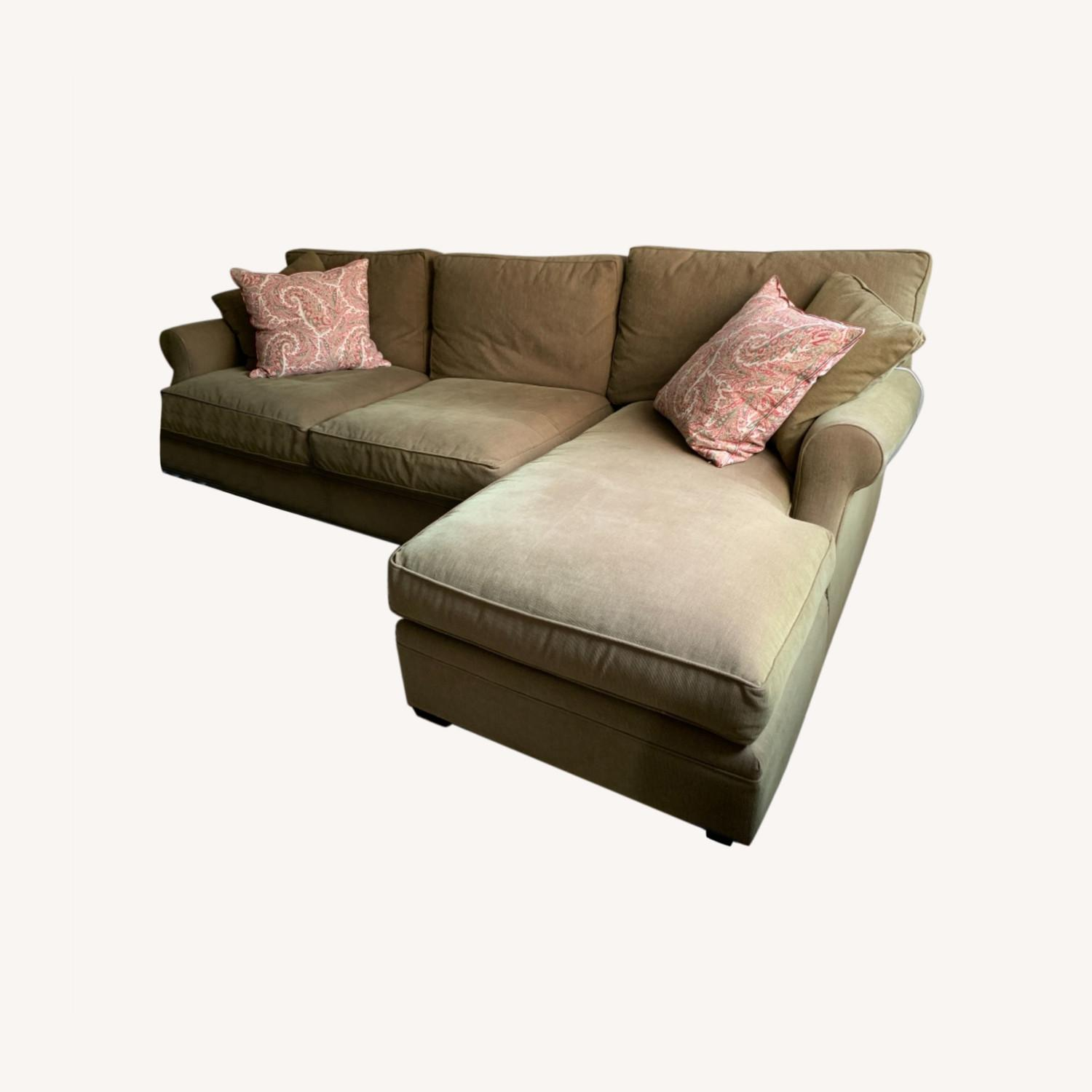 Arhaus Green Fabric two-piece Sectional - image-0
