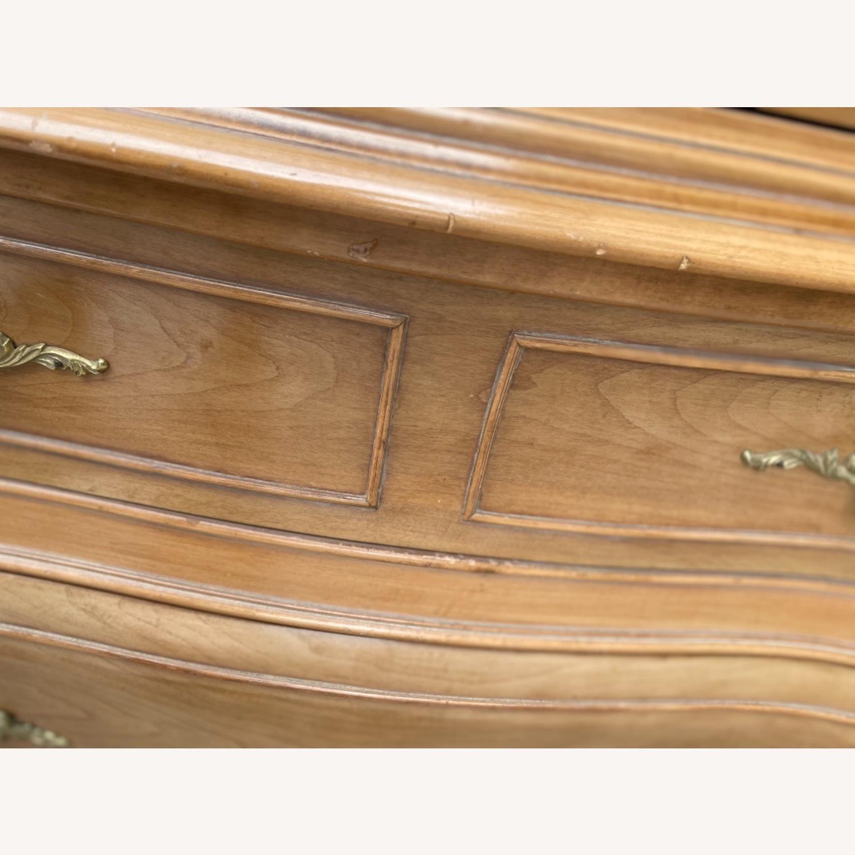 Vintage 1970 Solid Wood French Bombe Dresser - image-24