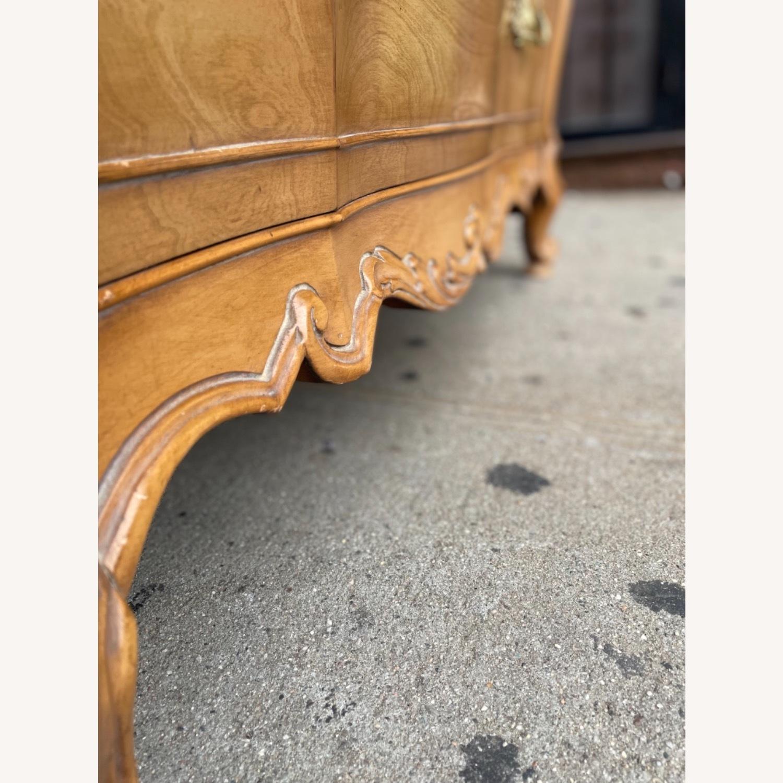 Vintage 1970 Solid Wood French Bombe Dresser - image-20