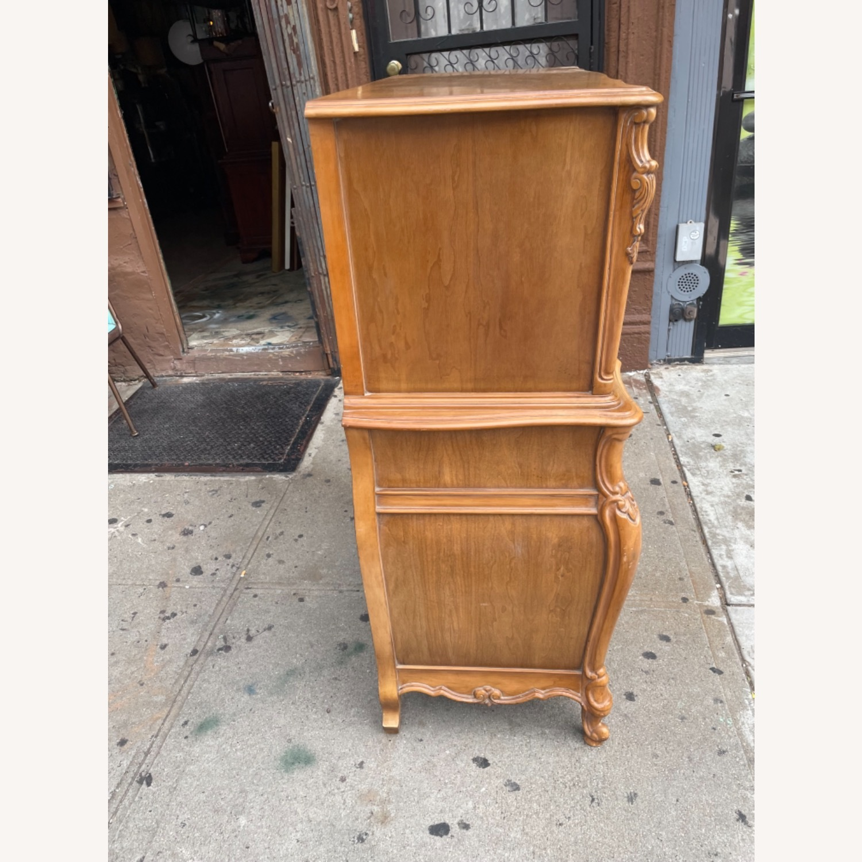 Vintage 1970 Solid Wood French Bombe Dresser - image-8