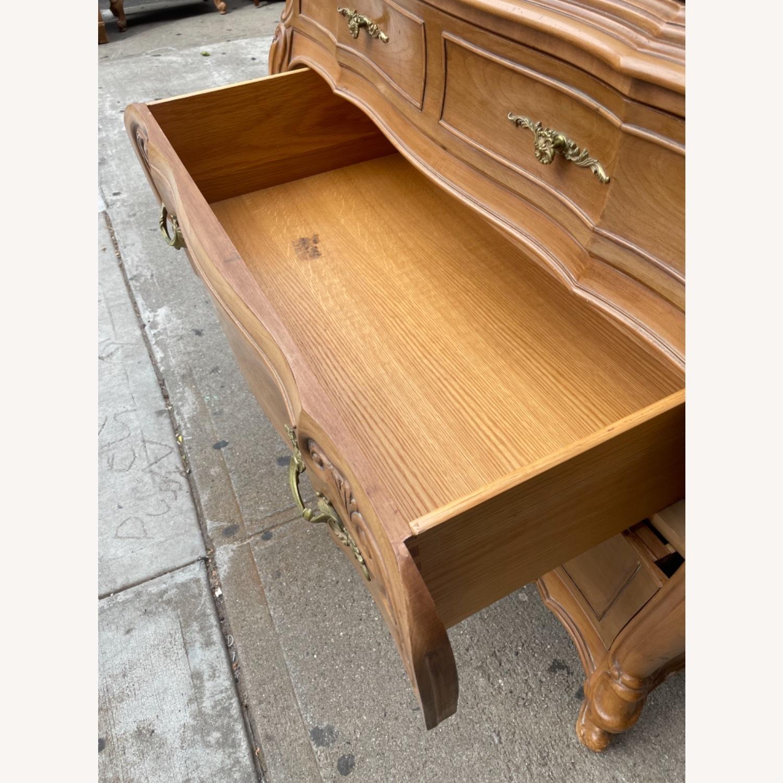 Vintage 1970 Solid Wood French Bombe Dresser - image-26