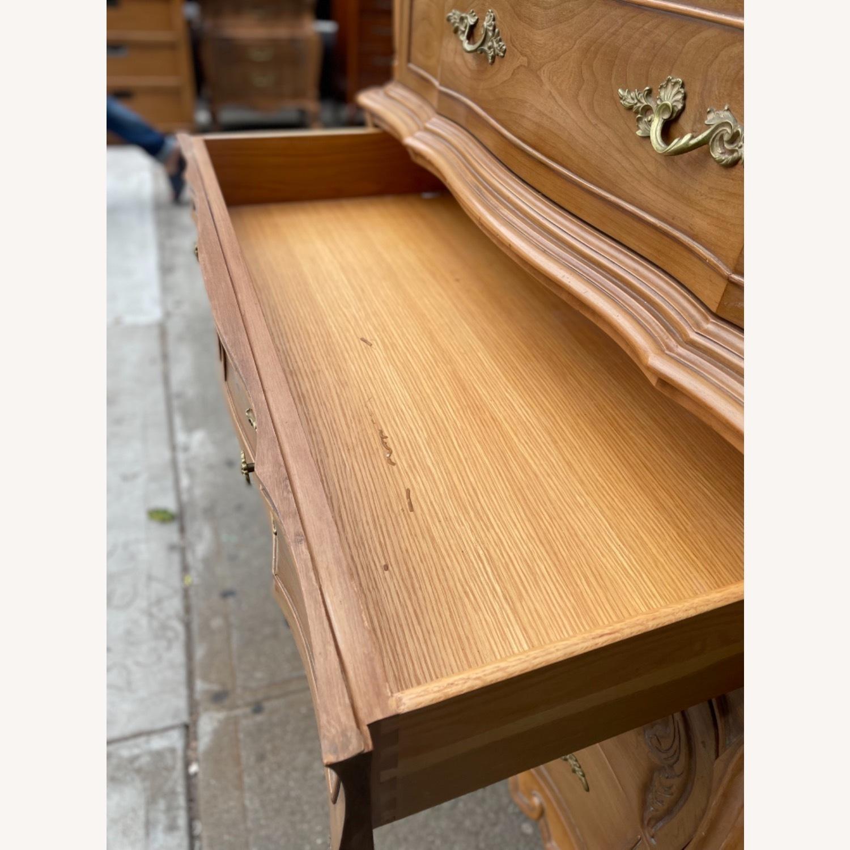 Vintage 1970 Solid Wood French Bombe Dresser - image-30