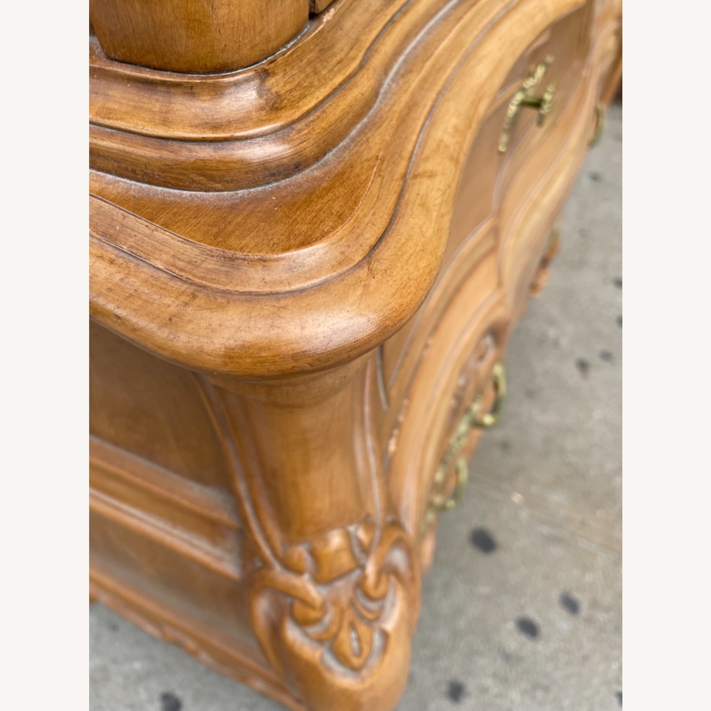 Vintage 1970 Solid Wood French Bombe Dresser - image-16