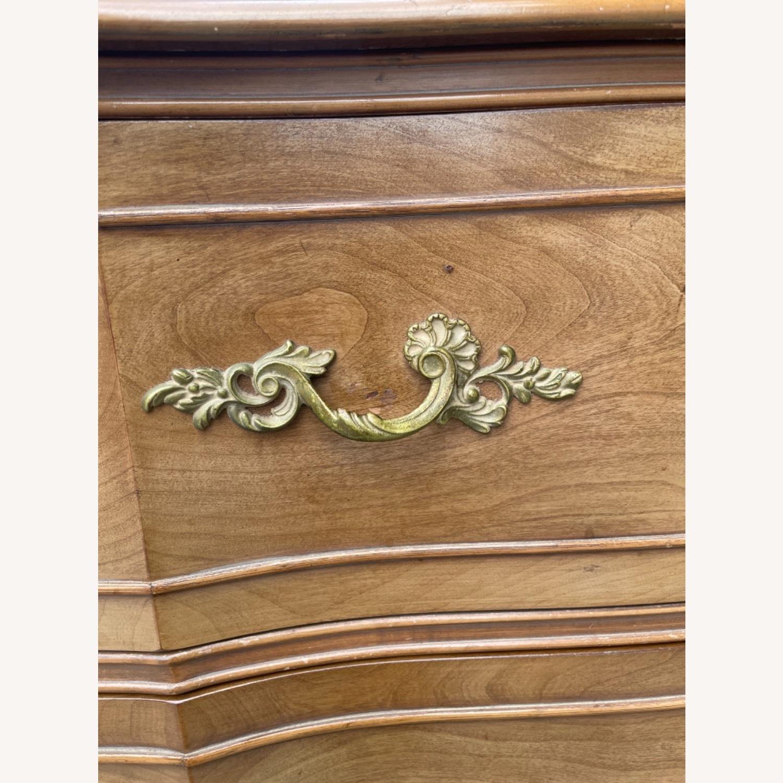 Vintage 1970 Solid Wood French Bombe Dresser - image-21