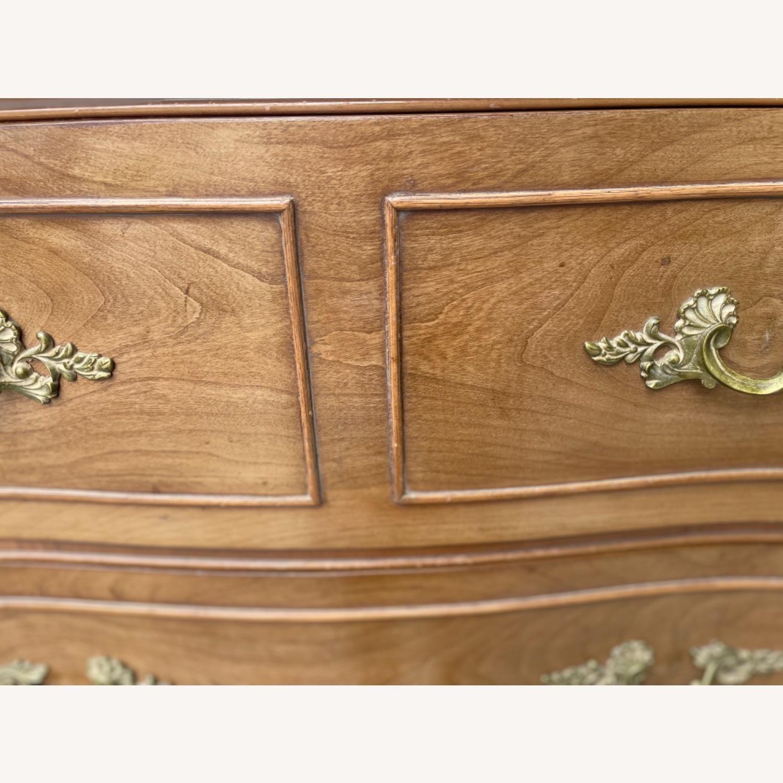 Vintage 1970 Solid Wood French Bombe Dresser - image-25