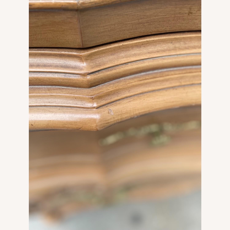 Vintage 1970 Solid Wood French Bombe Dresser - image-22
