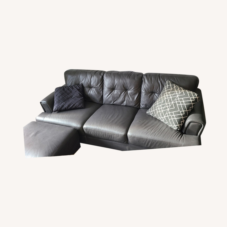Chateau D'ax Leather Sofa & Ottoman - image-4