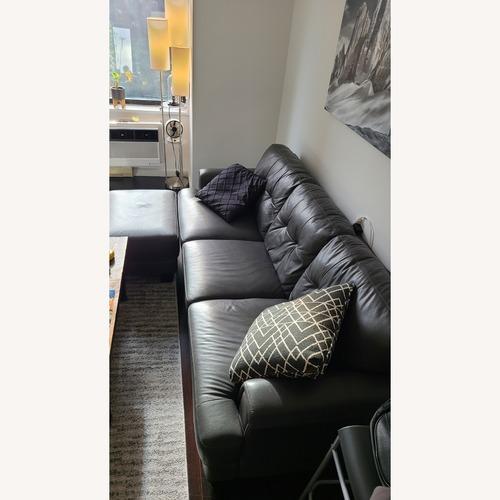 Used Chateau D'ax Leather Sofa & Ottoman for sale on AptDeco