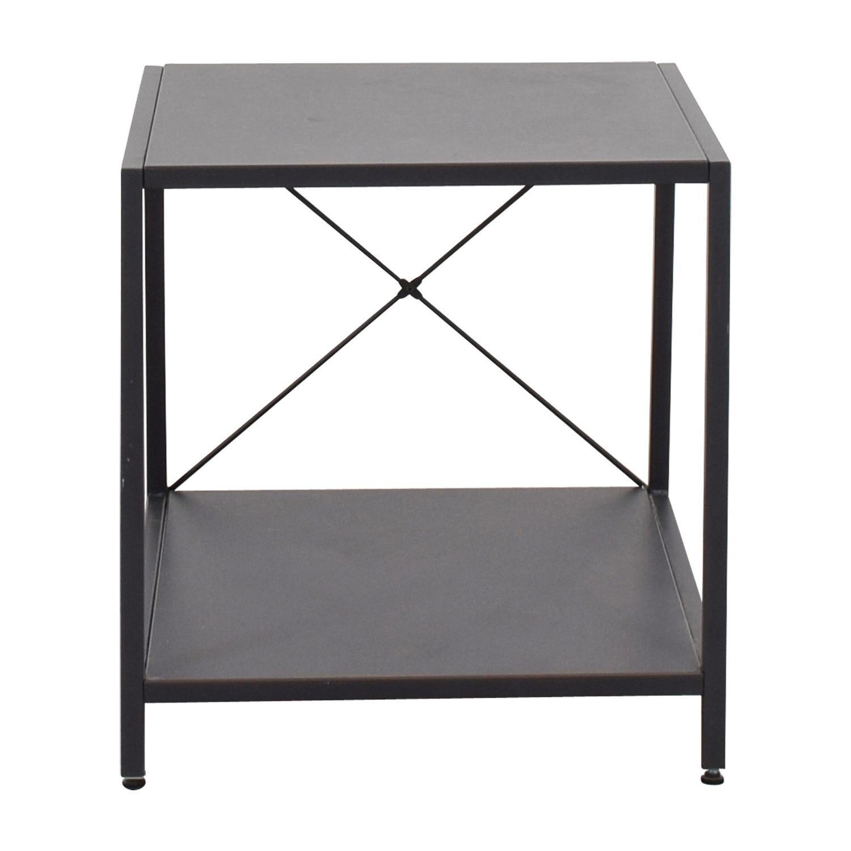 CB2 Grey Metal Side Table - image-6