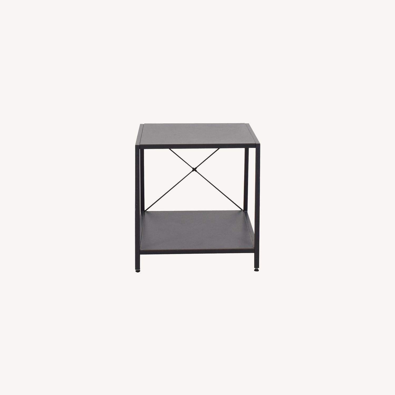 CB2 Grey Metal Side Table - image-0