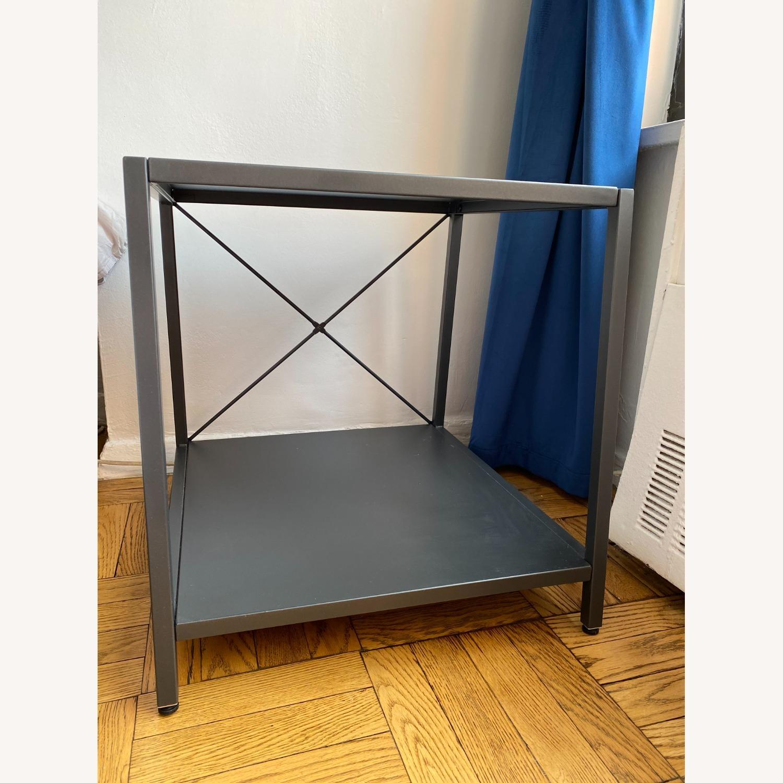 CB2 Grey Metal Side Table - image-1