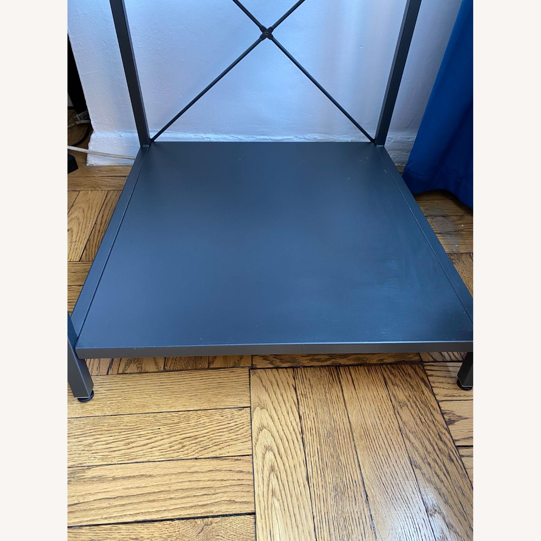 CB2 Grey Metal Side Table - image-5