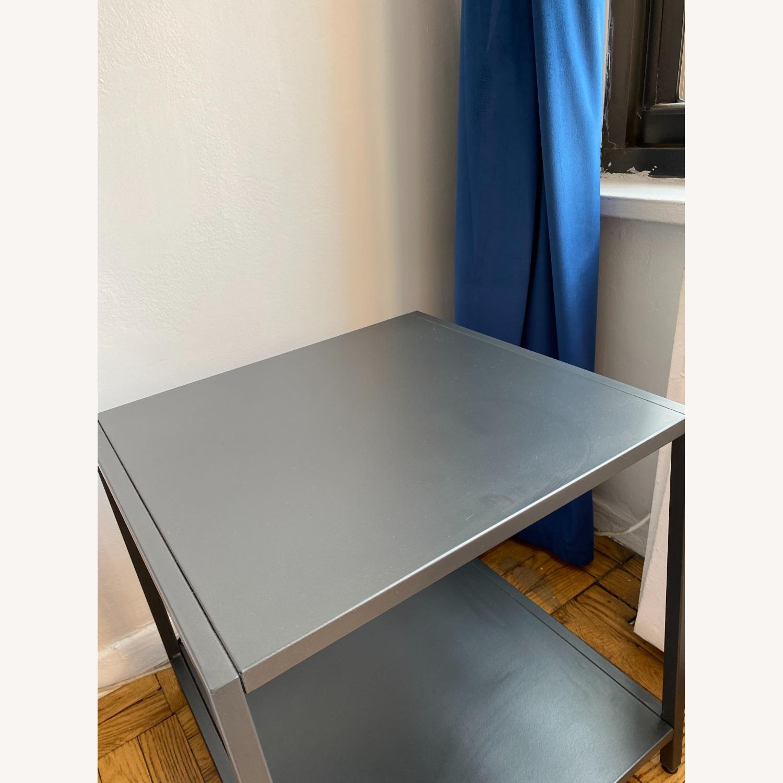 CB2 Grey Metal Side Table - image-3
