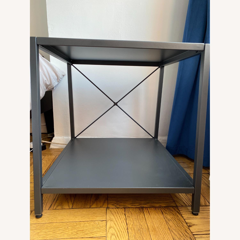 CB2 Grey Metal Side Table - image-4