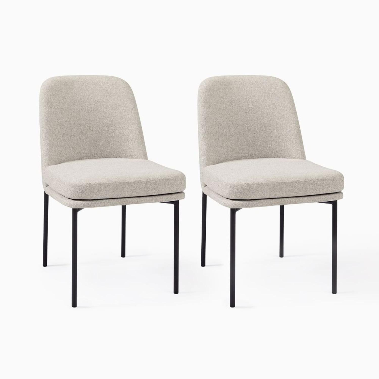 West Elm Jack Metal Frame Dining Chairs, Set of 2 - image-1