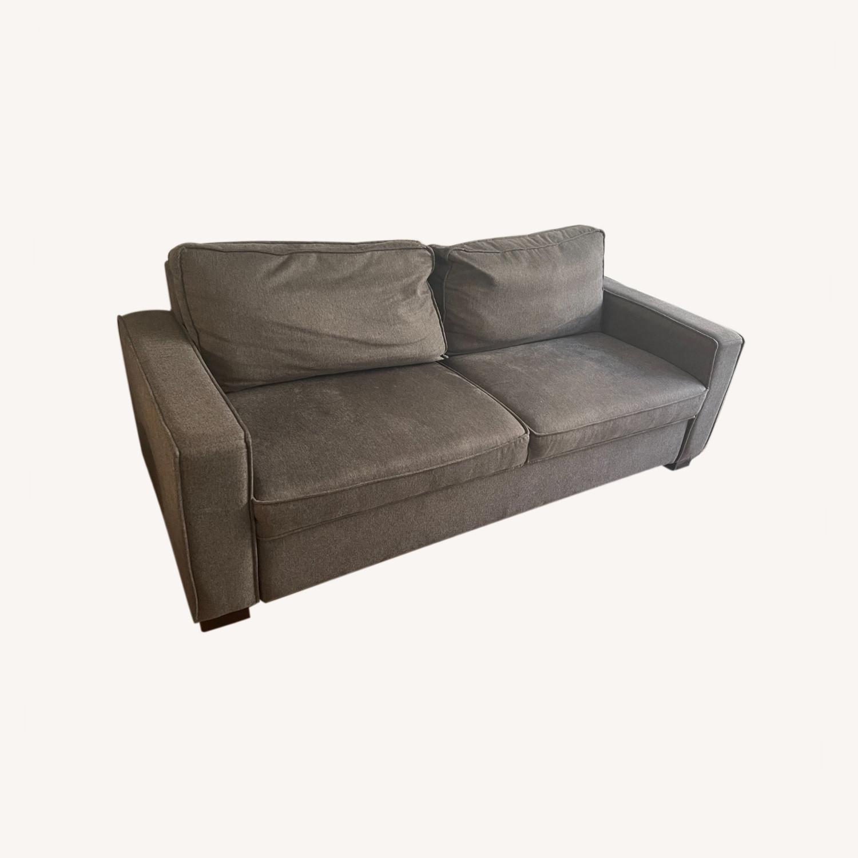 Jennifer Convertibles Grey Sleeper Sofa - image-0