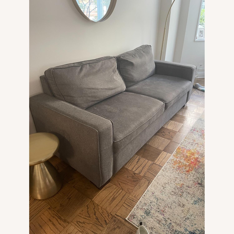 Jennifer Convertibles Grey Sleeper Sofa - image-3