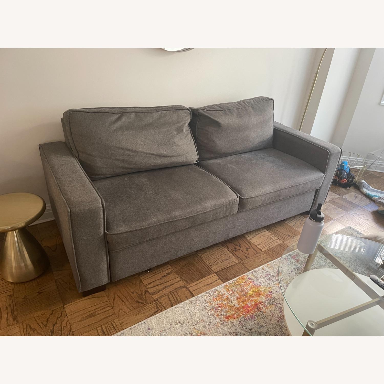 Jennifer Convertibles Grey Sleeper Sofa - image-1