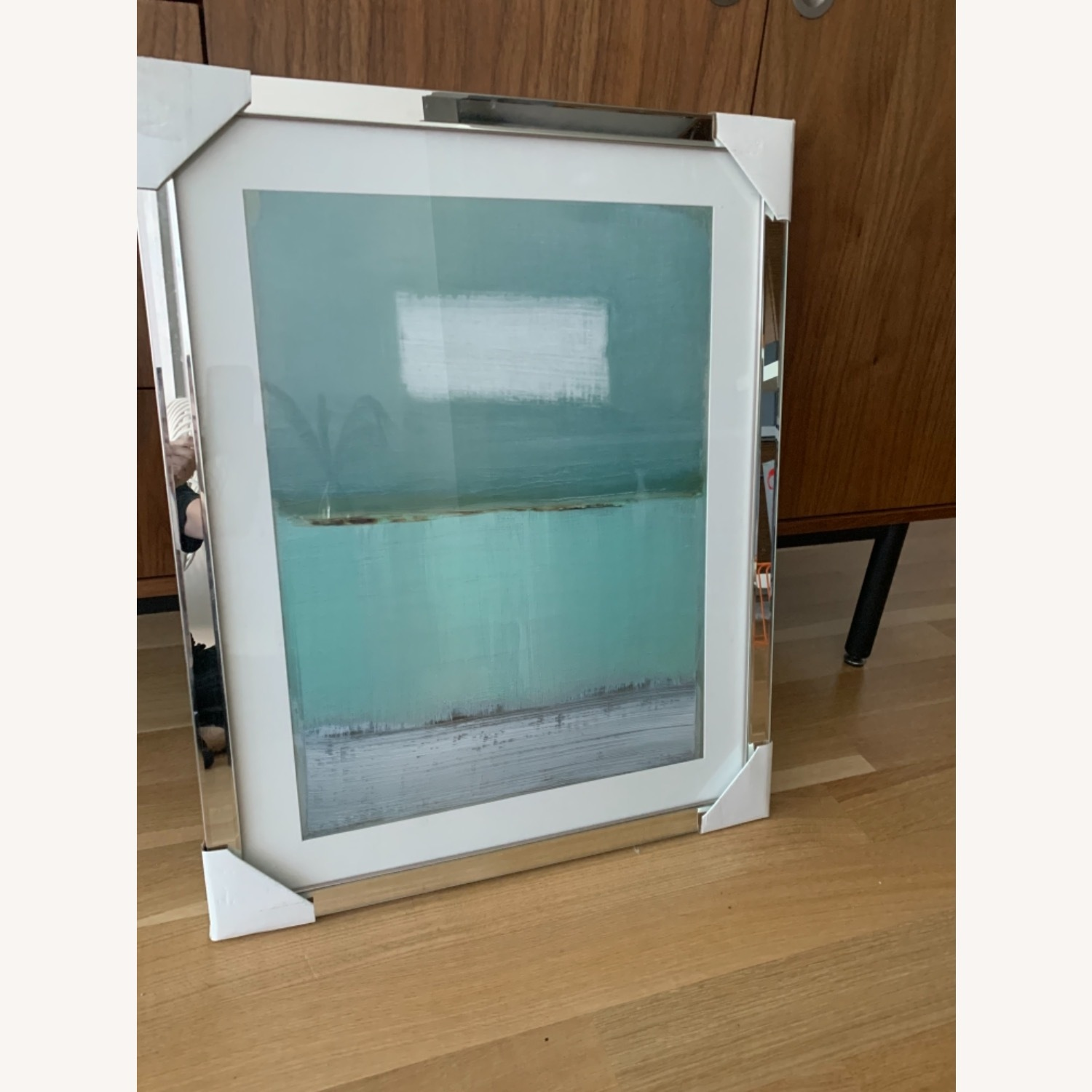 Green and White Framed Painting - image-5