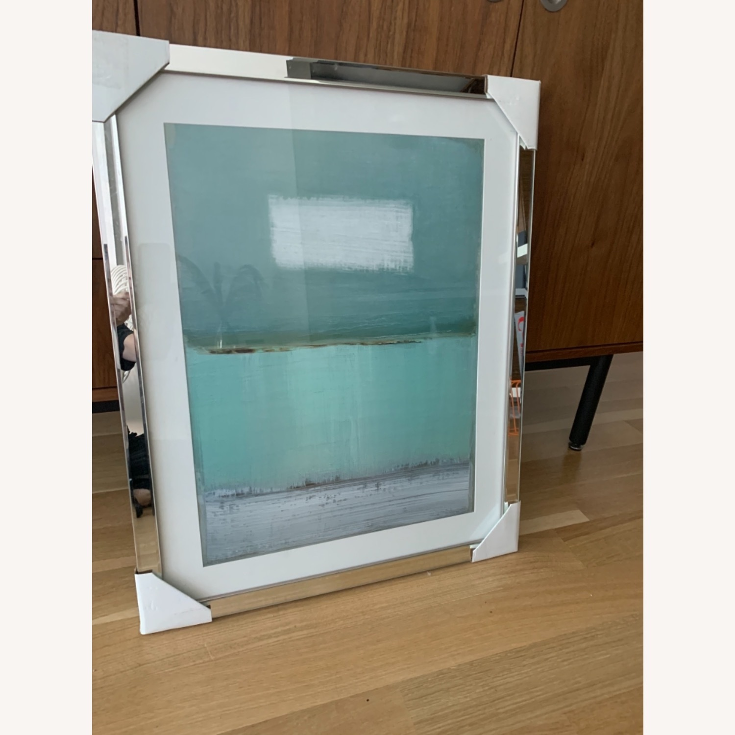 Green and White Framed Painting - image-6