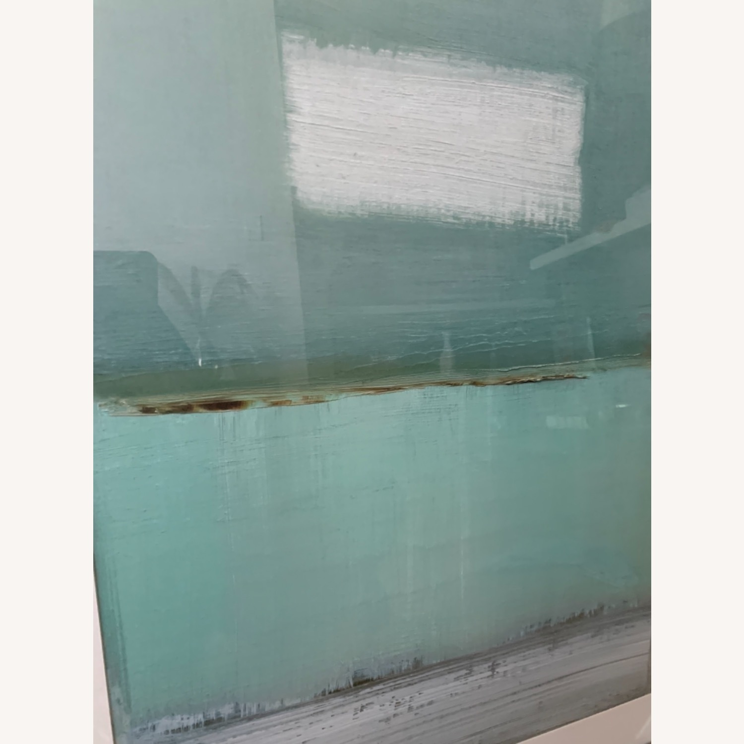 Green and White Framed Painting - image-1