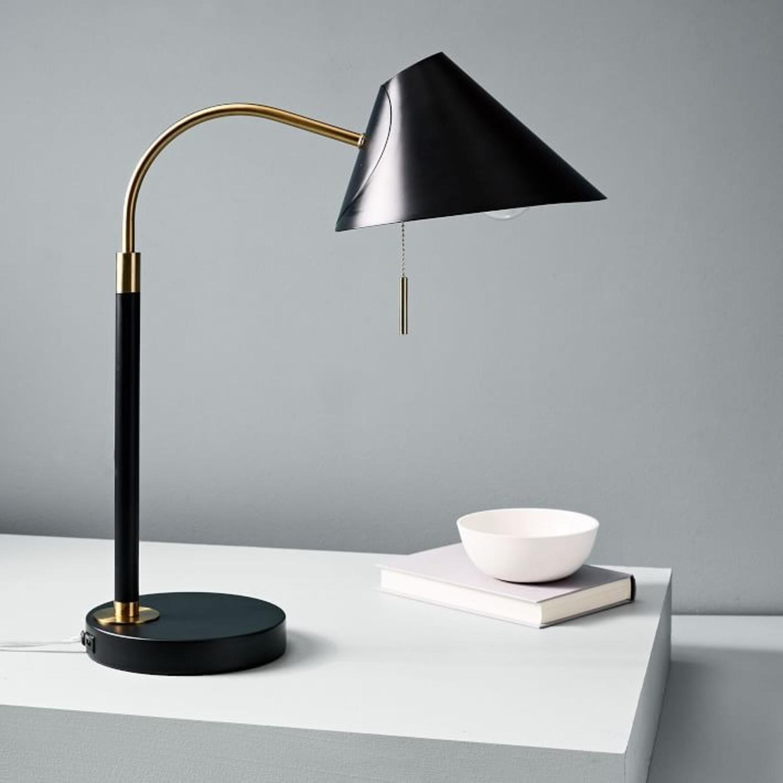 West Elm Mid-Century Task Table Lamp, Black - image-3