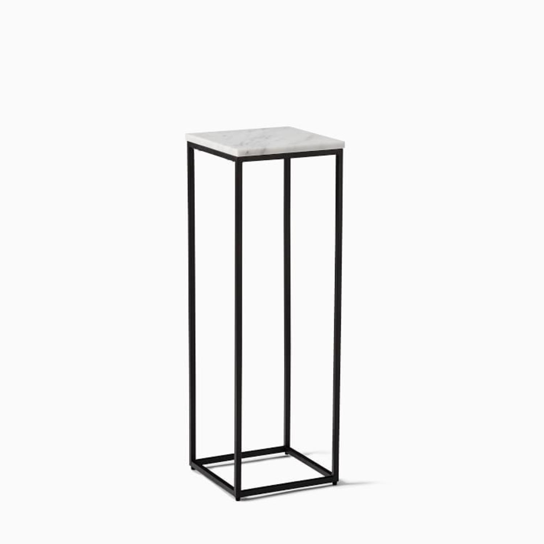 West Elm Streamline Small Pedestal Side Table - image-1