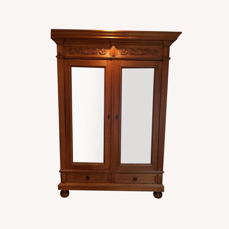 Antique Oak Armoire - image-0