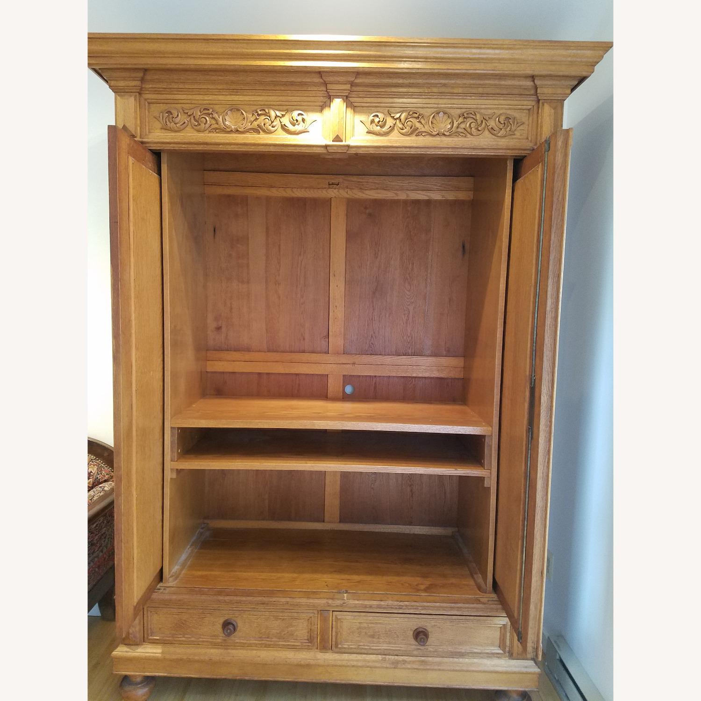 Antique Oak Armoire - image-5
