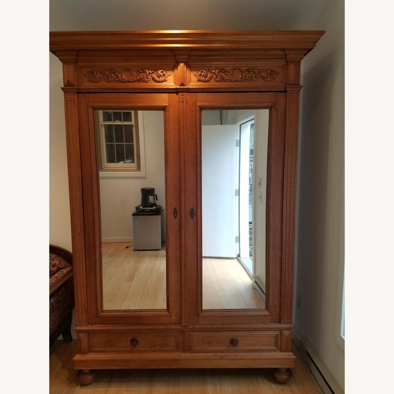 Antique Oak Armoire - image-6