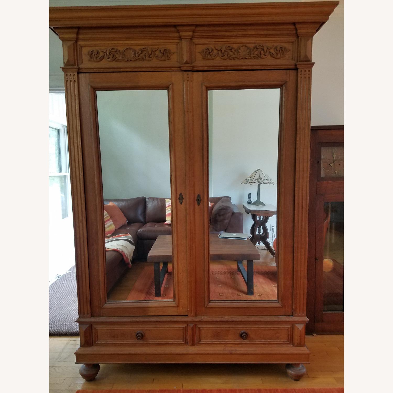 Antique Oak Armoire - image-4
