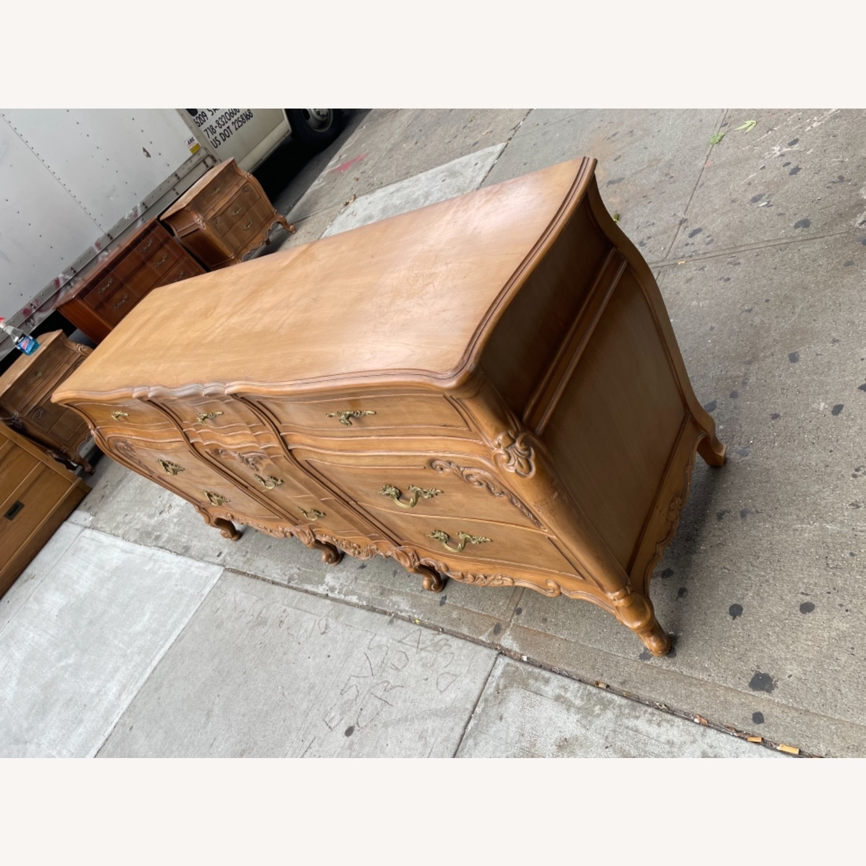 Vintage 1970s French Bombe 9 - Drawer Dresser - image-4