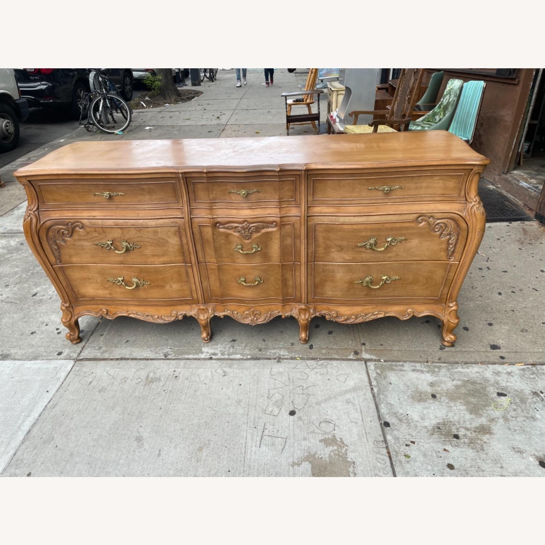 Vintage 1970s French Bombe 9 - Drawer Dresser - image-2