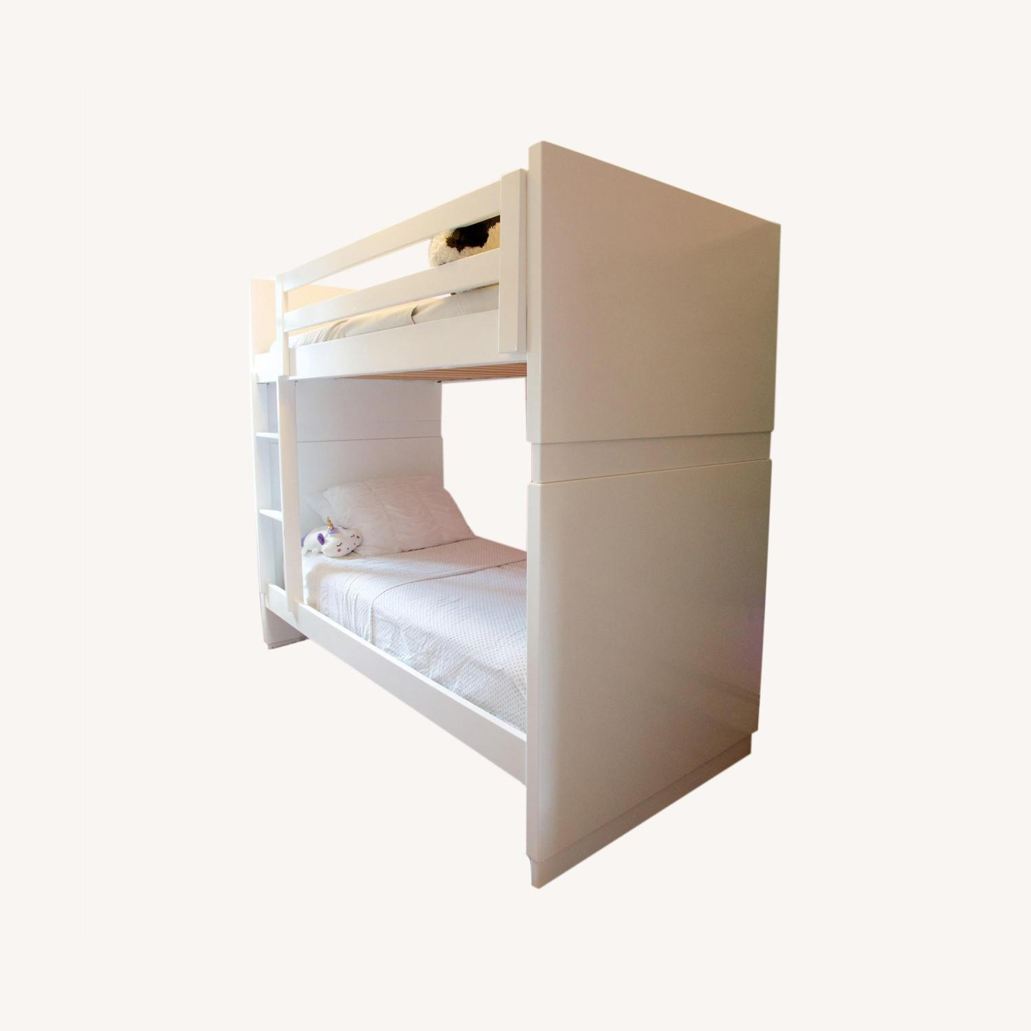 Room & Board White Bunk Bed - image-0