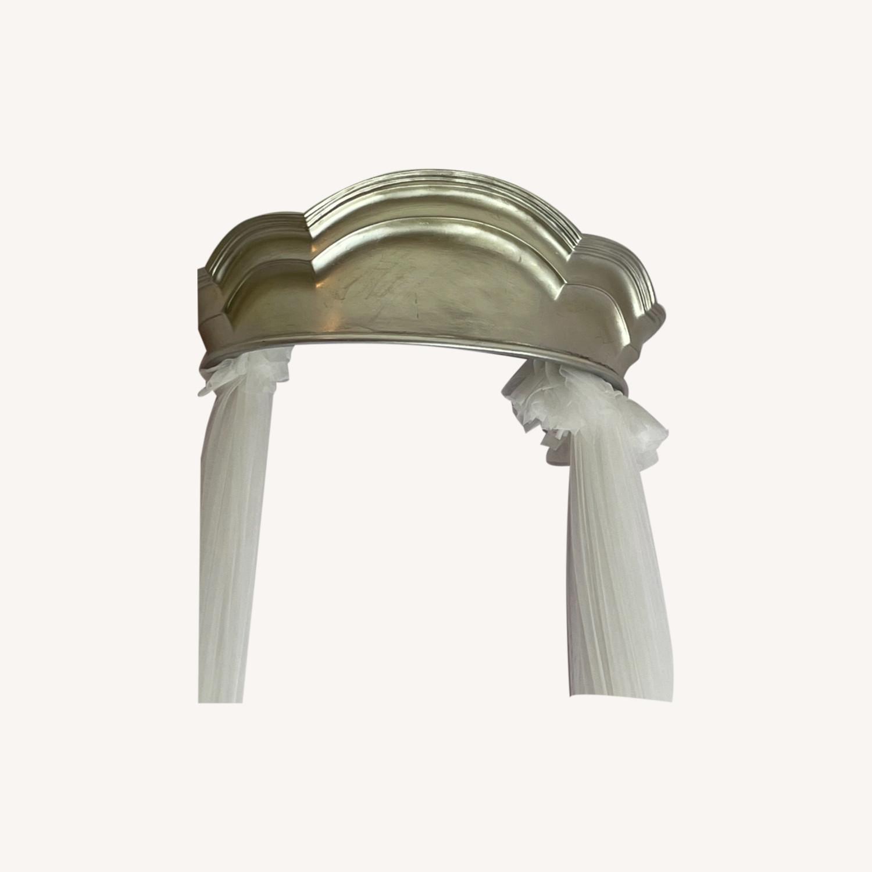 Pottery Barn Monique Lhuillier Metallic Cornice Canopy - image-0