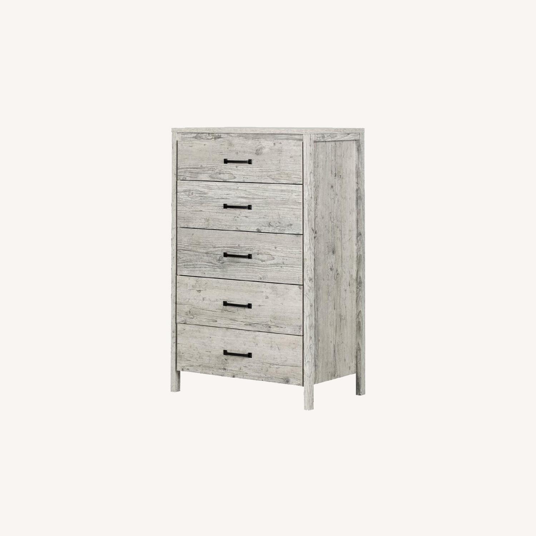 Wayfair Grey Dresser 5 Drawers - image-0