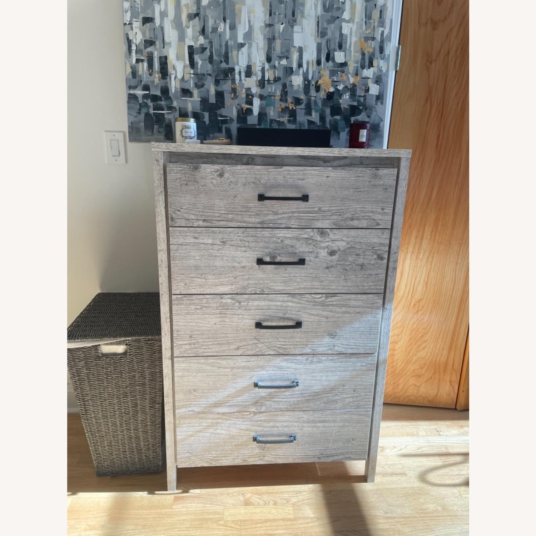 Wayfair Grey Dresser 5 Drawers - image-1